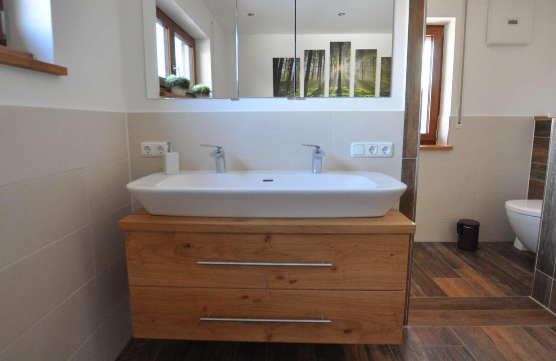 Waschbecken Unterschrank mit Spiegelschrank   Schreinerei Strotzer