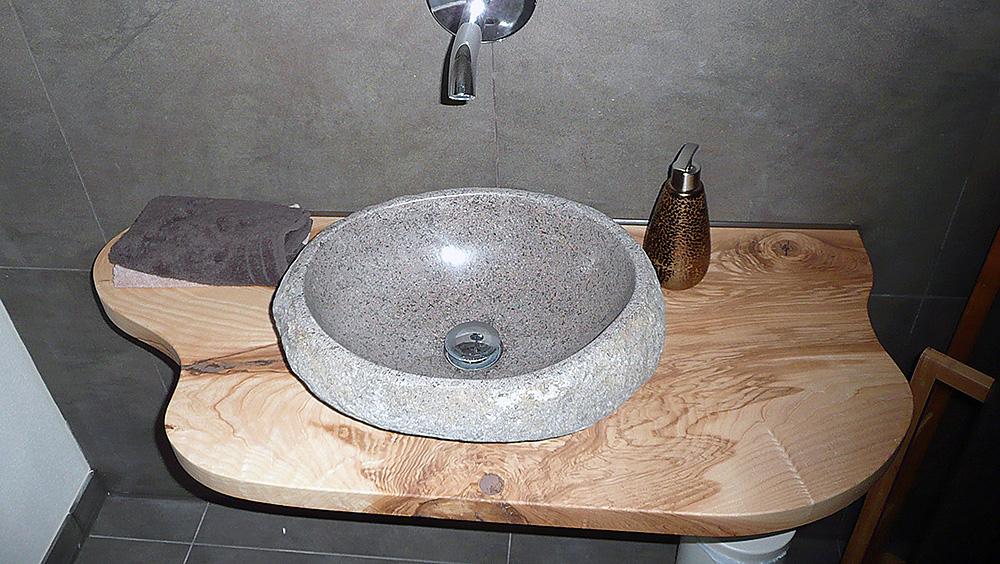 Waschtisch Esche Geölt Baumkante